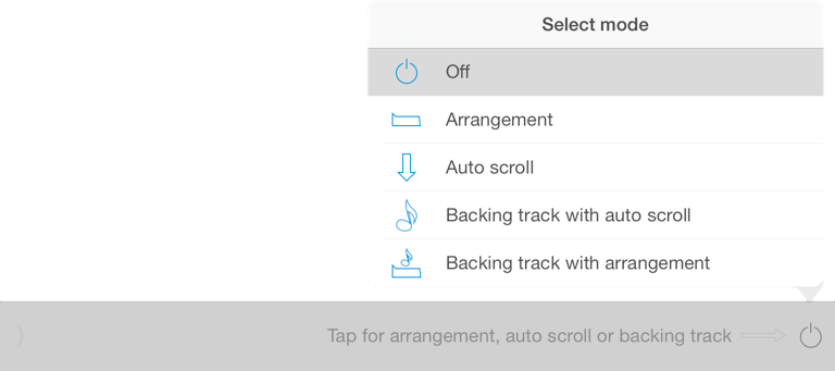 screenshot - select timeline mode